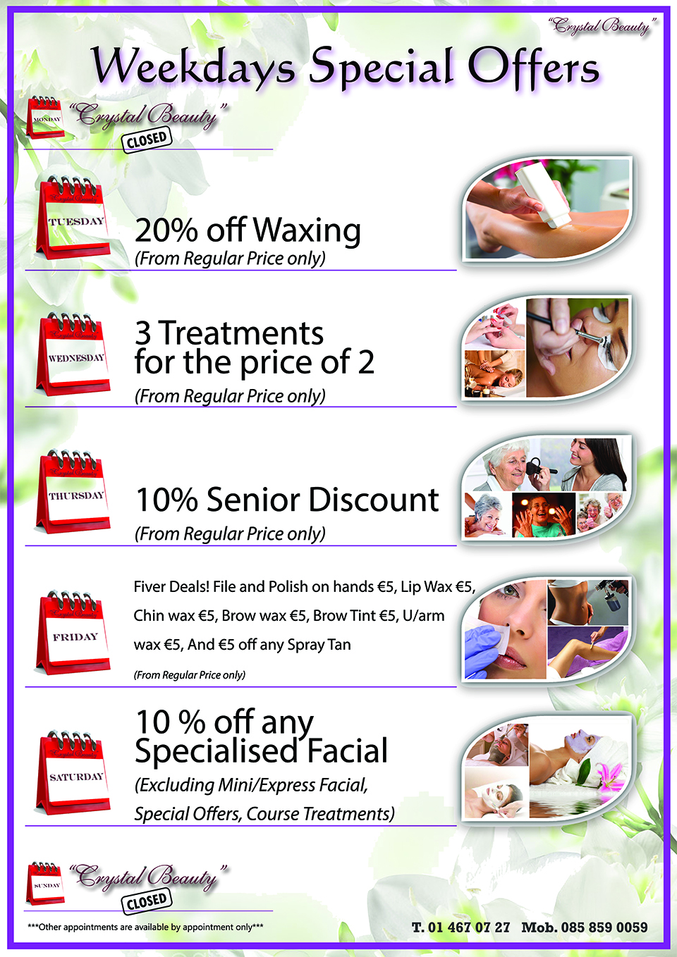 Everyday Special Offers From Crystal Beauty Clondalkin